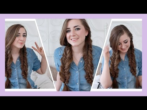 How To : Easy Boho Double Fishtail Braids / Pigtails