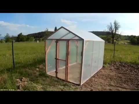 How to build a greenhouse - Time lapse