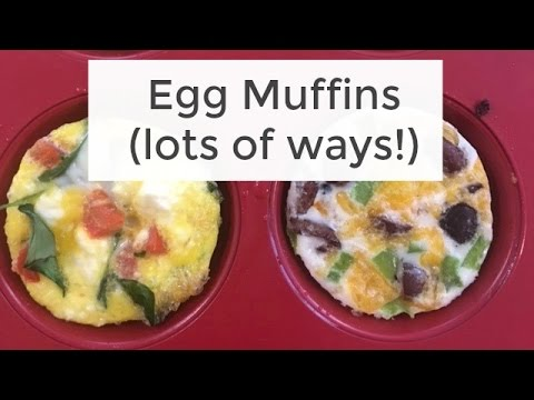 Easy + Healthy Egg Muffins Recipe| FaceBook LIVE