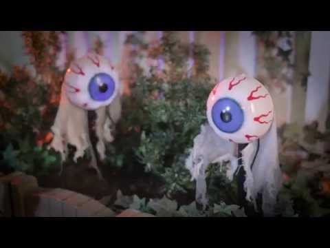 ANIMATED EYES PATHWAY MARKERS HALLOWEEN PROPS-SET OF 2 - Improvements Catalog