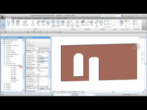 REVIT Basic Arched Opening - CADclip
