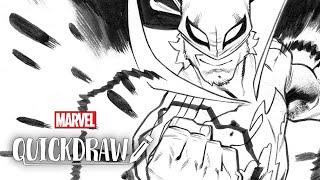 Artist Scott Hepburn draws Iron Fist – Marvel Quickdraw