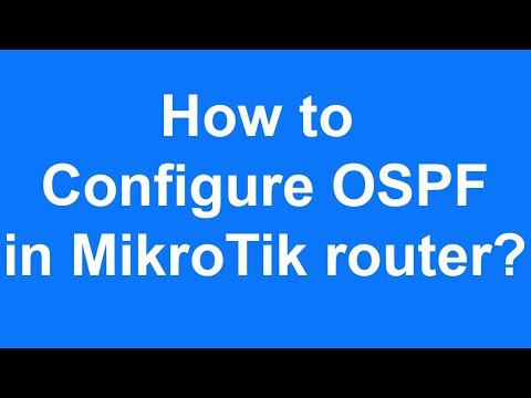 How to  configure OSPF  in MikroTik router?