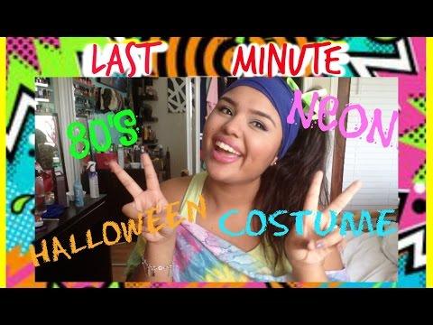 LAST MINUTE Halloween Costume | 80's Neon Look