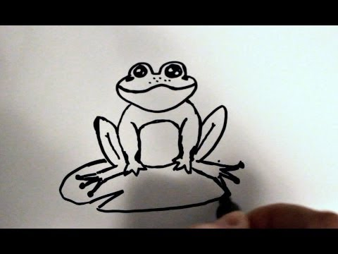 How to Draw a Cartoon Frog v2