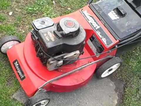 4 stroke Masport Lawn Mower