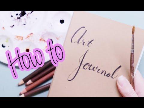 How to start an Art Journal   Tea Time With Tarryn   Episode