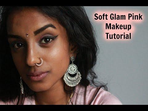♡ SOFT PINK GLAM MAKEUP TUTORIAL FOR MEDIUM TO DARK SKIN GIRLS  |VOGUEUNICORN ♡