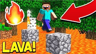 GRASS IS LAVA CHALLENGE ON MY MINECRAFT SERVER! (Minecraft Trolling)