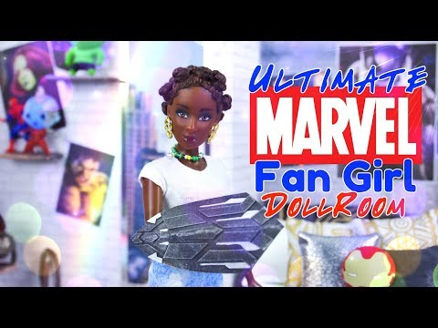 DIY - How to Make: Marvel Fan Girl Bedroom | Cap's Shield Rug | Black Panther Bed & More