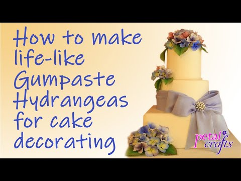 Making a Gumpaste Hydrangea Flower by Petal Crafts