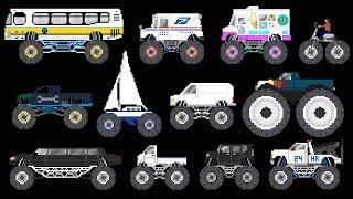 Monster Vehicles 3 - Monster Trucks & Street Vehicles - The Kids