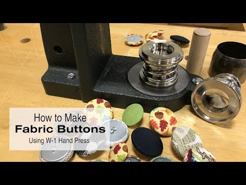 How to Make a Fabric Covered Button Using W-1 Hand Press