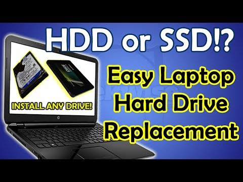 HOW TO REPLACE A HARD DRIVE HP 15 SERIES LAPTOP DIY HDD OR SSD