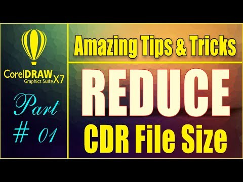 Coreldraw x7 - Amazing Tips & tricks - How to Reduce CDR File Size With this Trick By As Graphics
