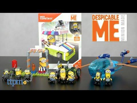 MEGA Construx Minions Motor Mania, Submarine Dive, Ice Cream Truck Joyride, from MEGA Brands