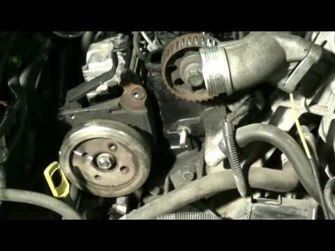 D5252T timing belt change part 2: Timing marks and pump belt removal. Volvo 850 S70 V70 S80 TDI 2.5D