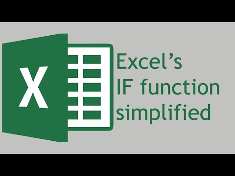 How to use the IF function in Excel 2016