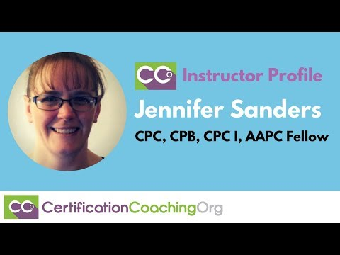 CCO Instructor Profile Jennifer Sanders, CPC, CPB, CPC I, AAPC Fellow