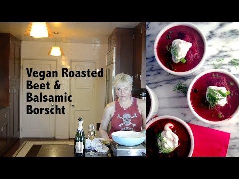 DDD Ep. #73 - Vegan Roasted Beet & Balsamic Borscht (Beet Soup)