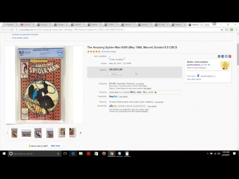 eBay highlighted sales& comic book flipping