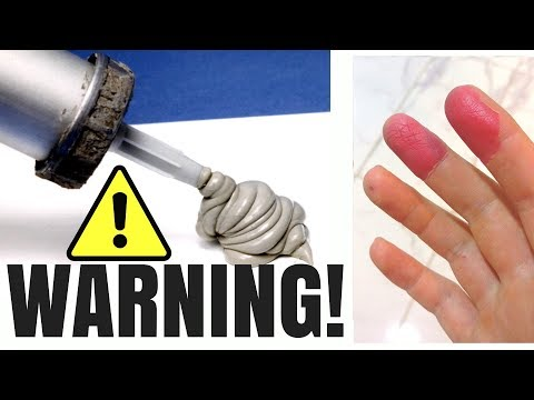 SILICONE WARNING - NEVER APPLY SILICONE  WITH YOUR HANDS!!