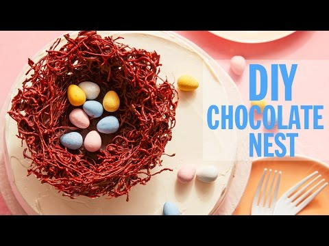 How to Make a Chocolate Nest Cake Topper   Food Network
