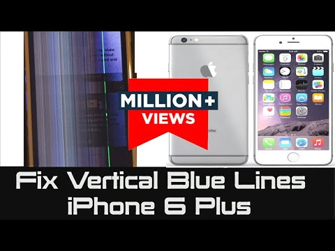 iPhone 6 Plus | How to Fix Vertical Blue Lines | Unresponsive Screen not responding