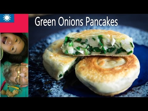 How to make Chinese Pancake葱油饼 Pajeon: 파전 (Green Onions/Chive) What I love about Swedish Countryside