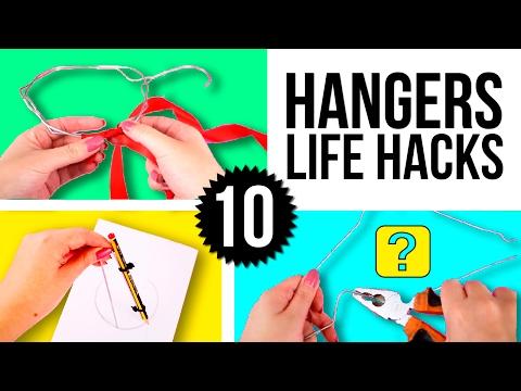 TOP 10 HANGERS Life Hacks 🤓 Super EASY tricks with HANGERS