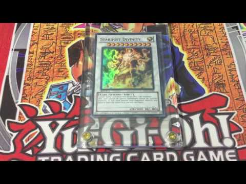 Yugioh Rarest Card-Sealed, WCS Stardust Divinity 2011 Replica, Review!