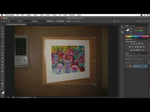 Perspective Crop Tool Tutorial Using Photoshop CS6 / Photoshop CC