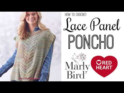 How to Crochet Beginner Lace Panel Poncho [Right Handed]