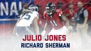 Julio Jones vs. Richard Sherman   Seahawks vs. Falcons   NFL Divisional Player Highlights