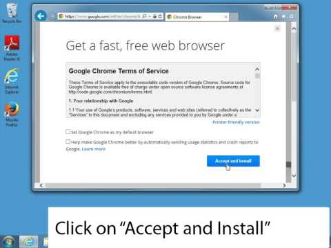 How to install Chrome in Windows 7