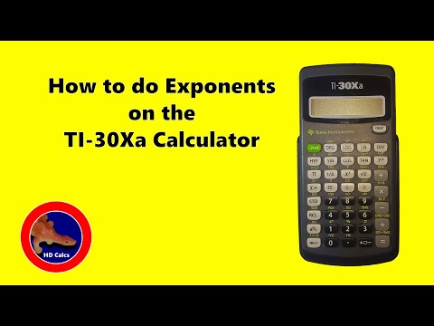 How to do Exponents on the Texas Instruments TI 30Xa Calculator