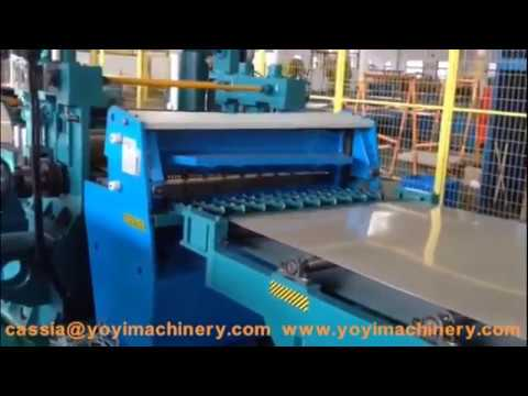 Cut to length line for steel doors, automatic steel door production line