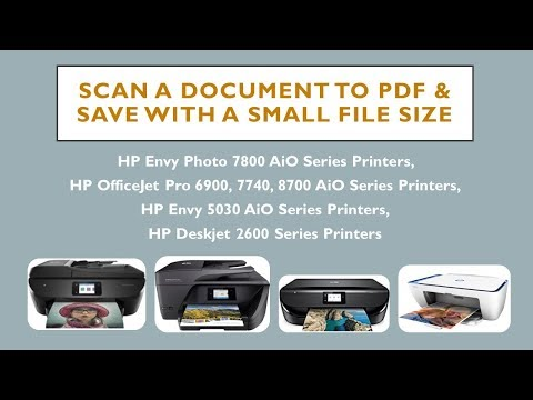 HP Envy Photo 7855 : Scan a document to PDF with a small file size