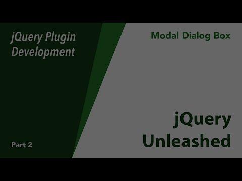 jQuery Plugin Development - Modal Dialog - Part 2