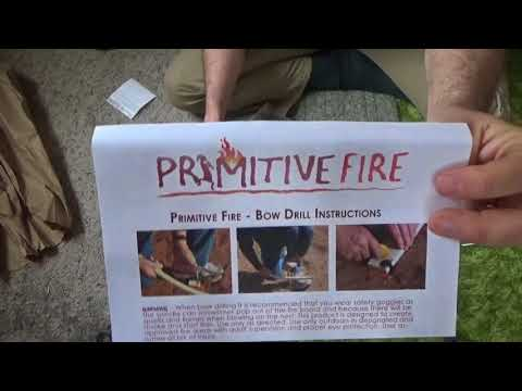 Unboxing Primitive Fire Bow Drill Kit & First Impressions