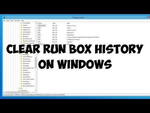 Clear run box history on Windows