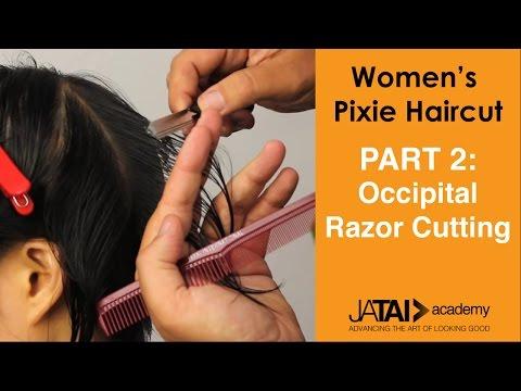 Women's Pixie Haircut - Occipital Razor Cutting - Part 2