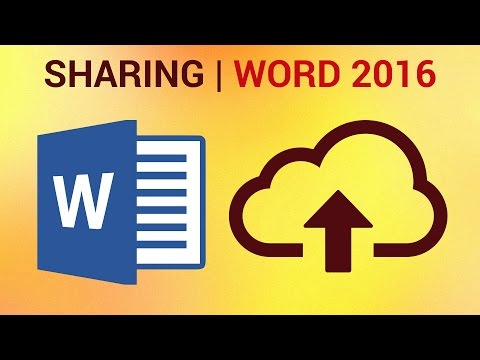 How to Share Word 2016 Document