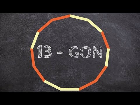 How to find the sum of interior angles for a 13 gon
