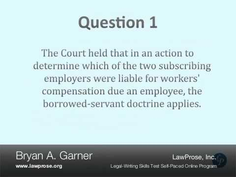 Bryan Garner's Legal-Writing Skills Test