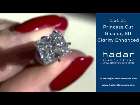 Clarity Enhanced Diamond | 1.51 ct Princess Cut
