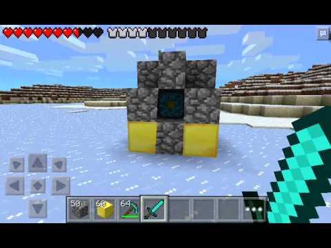 Como hacer portal al nether en minecraft pe 0.8.1
