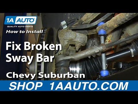 How To Install Replace Fix Broken Sway Bar Link 2000-06 Chevy Suburban Tahoe GMC Yukon
