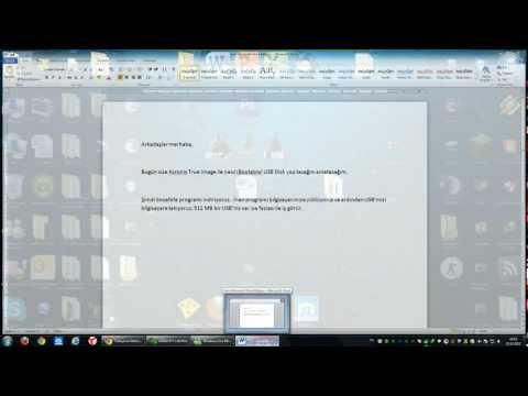 Acronis True Image ile Bootable USB Disk Hazırlama