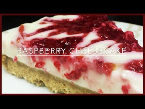 How to make Raspberry Cheesecake | No-Bake Raspberry Cheesecake | Raspberry Ripple Cheesecake